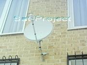 Установка,  настройка ТВ антенн эфирных (телевизионных),  спутниковых