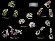 Серебряные украшения с цветными камнями оптом. Всегда выгодные цены!