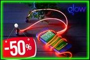 Светящиеся наушники Glow EL со скидкой 50%