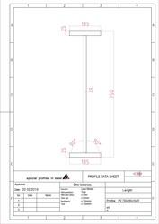 Балка нержавеющая AISI 304/304L IPE 750х185х15х25